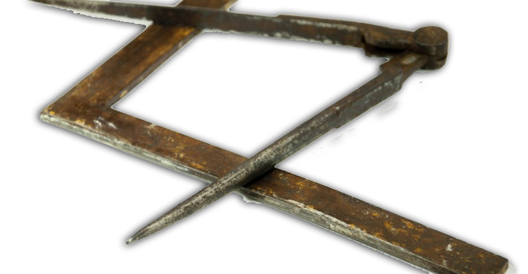 Vinkel og passer er to helt centrale symboler i frimureriet og vel nok også de to symboler de fleste forbinder med frimurere.